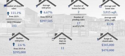 Real Estate Stats for Forest Meadows August 2020