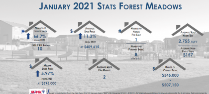 Forest Meadows Real Estate Stats Jan 2021